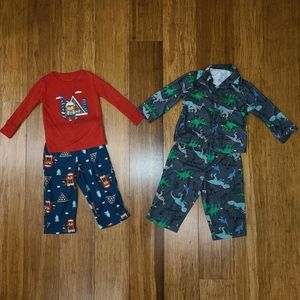 Baby Toddler Boys Winter Pajama Bundle